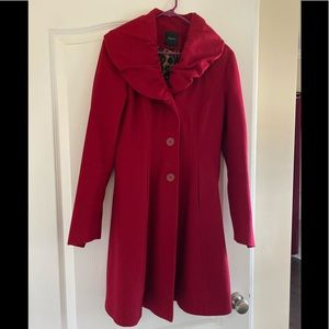 Express red wool coat sz small